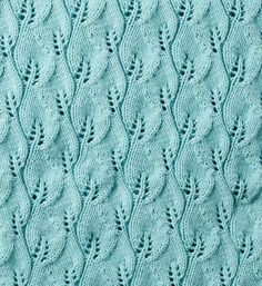 Free Knitting Pattern for a Leafy Lace Green Afghan. Skill Level: Intermediate This beautiful leaf inspired knit lace panel is a great way to build on your knitting skills! Free Pattern More Patterns Like This! Leaf Knitting Pattern, Lace Knitting Patterns, Knitting Stitches, Free Knitting, Stitch Patterns, Leaf Patterns, Afghan Patterns, Knitted Afghans, Knitted Baby Blankets