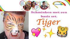 Simpele tijger met alleen een basis pakket schmink.