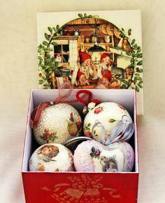 Christmas decorations set christmas ornaments by BellesAmiesDecor