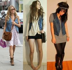 Hmm..how to pair the new studded denim vest I bought...? These look good.