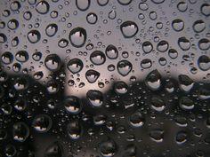 Reflets dans les gouttes d'eau.