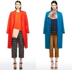 J.Crew 2014-2015 Fall Autumn Winter Womens Lookbook Presentation - Mercedes-Benz Fashion Week New York Catwalk - Denim Jeans Jogging Sweatpants Outerwear Trench Coat Scarf Zigzag Stripes Flowers Florals Palazzo Pants Culottes Boucle Knit Tassels Ornamental Bomber Down Jacket Puffer Checks Basketweave Stripes Leaves Sweater Sweaterdress
