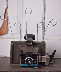 Items Similar To Polaroid Land Camera UpCycled Photo Business Card Holder On Etsy