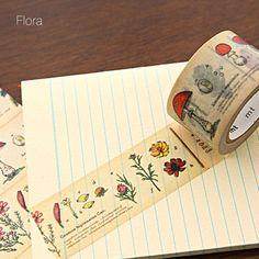 Botanical Illustrated Washi Tape