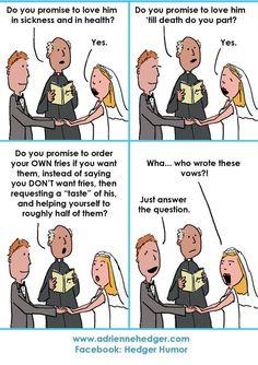 23 Trendy wedding vows to husband hilarious i promise Wedding Meme, Wedding Quotes, Wedding Things, Wedding Stuff, Dream Wedding, Funny Animal Memes, Funny Jokes, Hilarious, Stupid Jokes