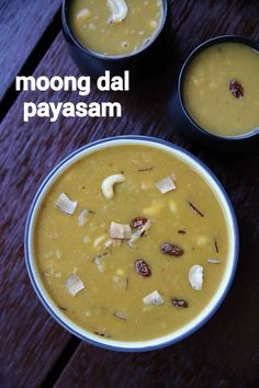 moong dal payasam recipe, paruppu payasam, pasi paruppu payasam with step by step photo/video. south indian style of kheer with moong dal & coconut milk. Indian Dessert Recipes, Sweets Recipes, Cooking Recipes, Indian Recipes, Kerala Recipes, Easy Cooking, Veggie Recipes, Yummy Recipes, Free Recipes