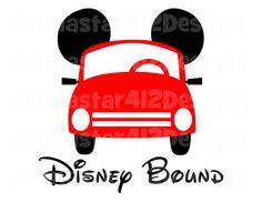 Disney Bound Mickey Car DIY Printable Iron On Transfer Digital File on Etsy, $2.00