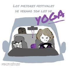 El verano es un momento ideal para irse de retiro o de festival de yoga. Mañana me voy a Cambridge al British Acrobatics Festival y estoy ¡que me acroyogo encima! ¡qué ganas! En dos semanas estoy de vuelta en España y me encantaría ir a todos los eventos que pueda. ¿Habéis estado en algún retiro, curso, formación o taller que os haya gustado mucho? ¿Qué festivales de yoga hay cerca de tu ciudad que valga la pena visitar? Viñeta para @yogafit_es
