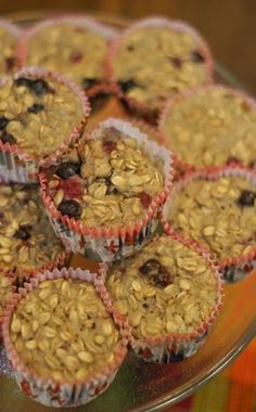 Paleo Sugar Free Berry Oatmeal Breakfast Muffins - These sugar free, fat free muffins are an easy and delicious way to pre-cook your breakfast. They were still good three days later. Great for people who have to rush off to work or school in the morning. Click here for more healthy, delicious recipes from The Cave Woman. http://www.goingcavewoman.com/paleo-sugar-free-berry-oatmeal-breakfast-muffins #Breakfast #GlutenFree