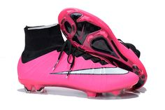 Latest Nike Mercurial Superfly 2015 FG Soccer Boots Cleats pink white black