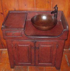 Primitive Decorating Ideas | Primitive Decorating Ideas / Love this - Dry Sink Vanity