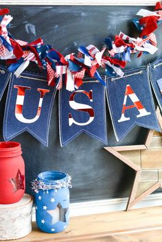 Feeling festive and patriotic? Then you should celebrate with these fourth of July party ideas. Show your pride in the red, white, and blue. These ideas are sure to make your party a hit and your guests will look forward to their invitation next year. Fourth Of July Decor, 4th Of July Celebration, 4th Of July Decorations, 4th Of July Party, July 4th, Americana Decorations, House Decorations, Patriotic Crafts, July Crafts