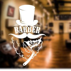 Barber Shop Wall Sticker shave decal sign door art hair graphic bb7 in Business, Office & Industrial, Retail & Shop Fitting, Signs | eBay!