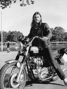 Triumph Motorcycle - Lemmy Kilmister - Motorhead. Just because.