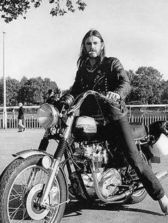 Triumph Motorcycle - Lemmy Kilmister - Motorhead. Just because.