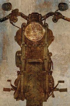 Art Print: Motorcycle Art Print by Dylan Matthews : Vintage Motorcycles, Harley Davidson Motorcycles, Stretched Canvas Prints, Framed Art Prints, Art Moto, Carros Retro, Rock Poster, Bike Poster, Plexiglass