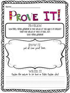 Prove it! {5th grade Common Core math problems}