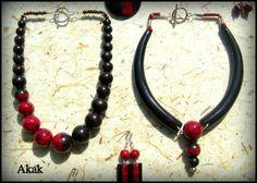 collection bois et pierres rouges (imitation)