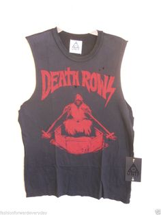 Unif Death Rows Grim Reaper Tee T-Shirt Size Small Sleeveless New with Tags