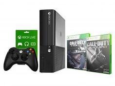 Console Xbox 360 500GB 1 Controle Sem Fio +2 Jogos - C.O.D Black Ops II/ C.O.D Ghosts - Microsoft