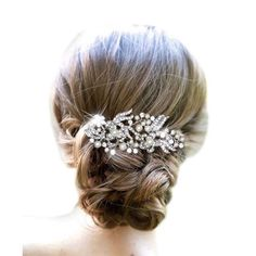 An adorable Bridal Comb from the Egret collection. - finished to perfection, a stunning accessory to compliment any Bridal Gown! HAIR COMB PEARL RHINESTONE. Material: Alloy, Rhinestone, Faux Pearl. | eBay!