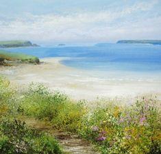 Summer's Walk at Padstow by British Contemporary Artist Amanda HOSKIN
