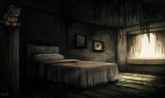 DAY Abandoned Bedroom Minutes) by Cryptid-Creations on DeviantArt Post Apocalyptic Fiction, Detailed Image, Abandoned Buildings, Character Design, Digital Art, Deviantart, Day, Artist, Artwork