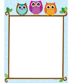 Use this adorable and delightful Colorful Owls on a Branch design to promote your classroom theme! So many uses to liven up projects, writing assignments, class newsletters and more! Add style to personalized awards, letters and lists--the possibilities are endless! Look for coordinating products in this design to create this popular classroom theme! Comes in 50 sheets per pack.