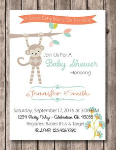 2ef9bb9be5be Jungle Baby Shower Invitation - Safari Baby Shower Invitation