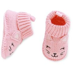 Just One You™Made by Carter's® Baby Girls' Pink Kitty Crocheted Booties : Target