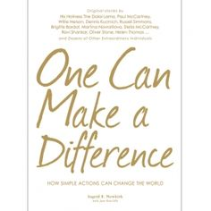 One Can Make a Difference Hardcover Book. Great books one of my favorites :)))