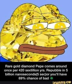 Rare diamond pepe.