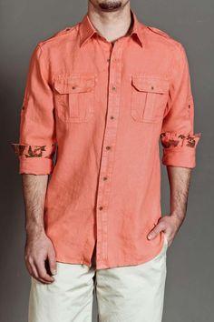 JackThreads - Garment Dye Linen Cargo Shirt