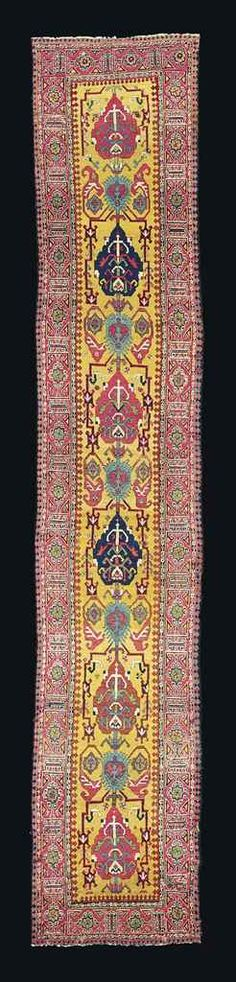 NORTH WEST PERSIAN RUNNER  LATE 18TH/EARLY 19TH CENTURY    19ft. x 3ft.6in. (578cm. x 107cm.)