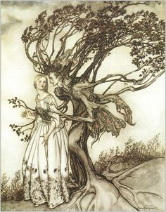 Arthur Rackham illustration.