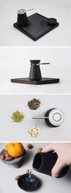 The Hei tea set can be used to prepare the three types of Chinese tea.
