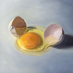 Cracked Egg - Original Oil Painting Available @ http://ift.tt/2fqeFBZ whimsicalwildartwork.etsy.com  #art #artforsale #paintingsforsale #painting #oilpainting #egg #cracked #food #cooking