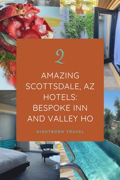 Two Great Hotels in Scottsdale AZ: Bespoke Inn and Valley Ho - Nightborn Travel Scottsdale Hotels, Places To Travel, Travel Destinations, Hollywood Scenes, Arizona Travel, Travel Usa, Travel Tips, Travel Guides, Great Hotel