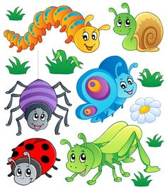 """Cliparts with Bugs Latest cliparts are """"Cute Bug Clipart"""",""""Bugging People Insects Clipart"""",""""Spring Bugs Clipart"""" Insect Clipart, Bug Art, Bugs And Insects, Nursery Wall Art, Cute Cartoon, Wall Art Prints, Coloring Pages, Vector Free, Eps Vector"""