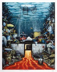 """""""Oceanic Cuisine"""" de Jacek Yerka"""