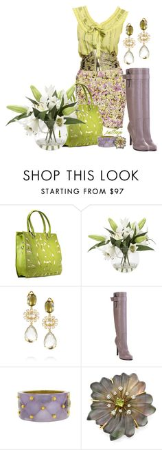 """""""Cleo"""" by rockreborn ❤ liked on Polyvore featuring Casablanca, Bounkit, Barbara Bui, Alexis Bittar, Buccellati and green purse"""
