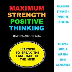 Maximum Strength Positive Thinking now available in kindle on Amazon. #PositiveSelfTalk #PTSD #WoundedWarrior #Depression #PositiveThinking