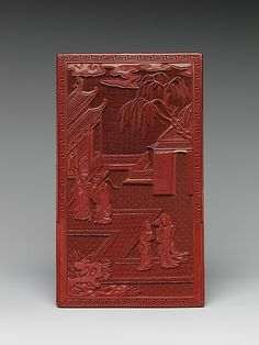 Pair of Screens with Landscapes and Flowers and Birds Period: Qing dynasty (1644–1911) Date: late 17th–early 18th century Culture: China Medium: Carved red lacquer Dimensions: Screen (each): 8 5/8 x 5 in. (21.9 x 12.7 cm) Classification: Lacquer