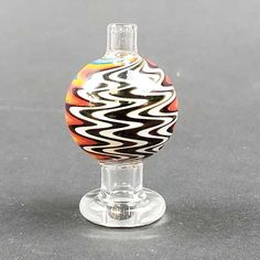 Our Wig Wag Carb Cap features American colors using the wig wag glass blowing technique. These beautiful pieces will make a wonderful addition to any collection. Carb Cap, Top Nail, Wigs, Quartz, American, Colors, Glass, How To Make, Beautiful