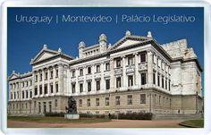 $3.29 - Acrylic Fridge Magnet: Uruguay. Palacio Legislativo. Montevideo