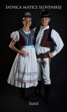 Kostýmy a kroje – Matica slovenská Folk Clothing, Celtic, Costumes, Clothes, Saris, Slovenia, Dancers, Art Reference, Embroidery