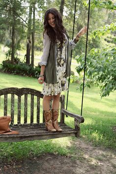 floral with cowgirl boots