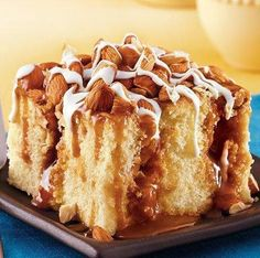 """This vanilla-frosted nutty pound cake features delicious layers of creamy caramel in every bite. This simple recipe is one of our most popular cakes—perfect for any special occasion. Betty member RuthMary60 says, """"I made this for a church potluck. There was none left to take home—in fact I had three requests for the recipe."""""""