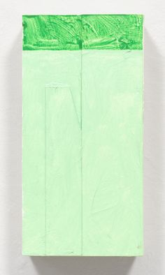 "Richard Tuttle ""Night Wedge-Knife"" (1999) Acrylic on museum board 10 × 5 × 2 1/4 in"