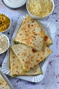 Vegetarian Recipes, Healthy Recipes, Quesadilla, Paleo, Food And Drink, Low Carb, Bread, Snacks, Meals